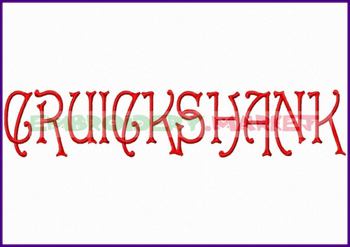 CRUICK SHANK Machine Embroidery Designs Fonts Instant Download