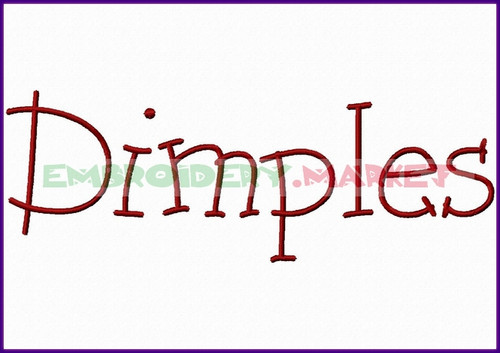DIMPLES Machine Embroidery Designs Fonts Instant Download