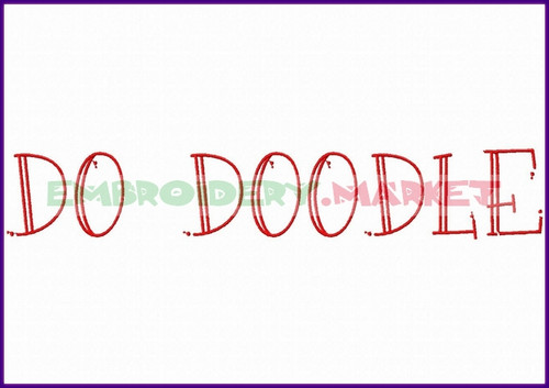 DO DOODLE Machine Embroidery Designs Fonts Instant Download