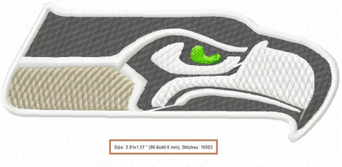 Seattle Seahawks NFL team Logo Machine Embroidery Designs