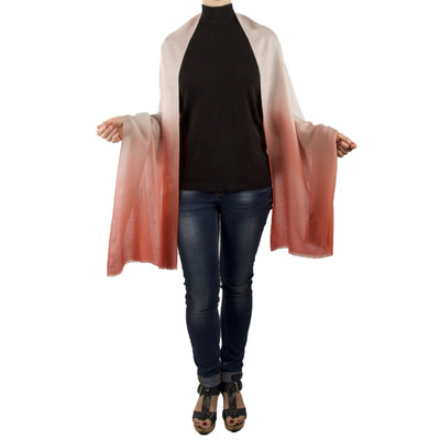 Evelin Lightweight Merino Wool Ombré Shawl