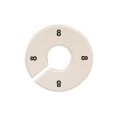 Size Divider White w Black Number 8 40mm ID