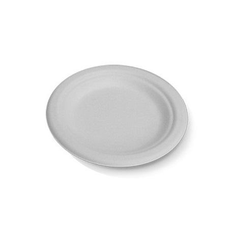 "180mm/7"" White Sugarcane Plates (small)"
