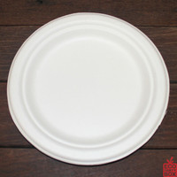 "Our 180mm/7"" White Sugarcane Plates (small) are great as side plates or for serving cake."