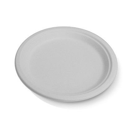 225mm White Sugarcane Round Plates (large)