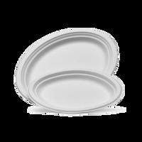 White Sugarcane Oval Plates/Platters (large)