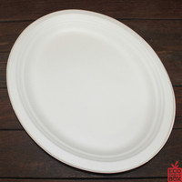 Our White Sugarcane Oval Plates/Platters (large) are terrific for very large meals or for serving food as small platters to everyone.