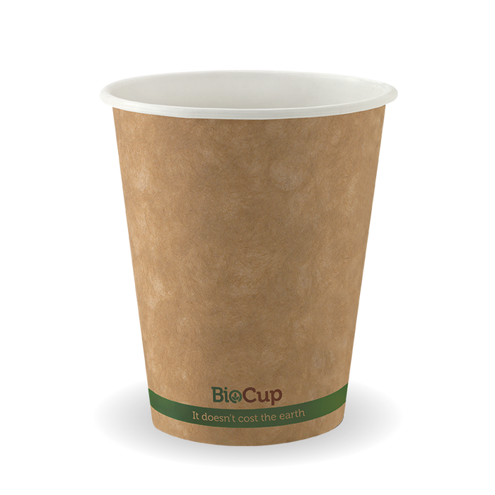 8oz Single Wall Brown Kraft Paper Cups