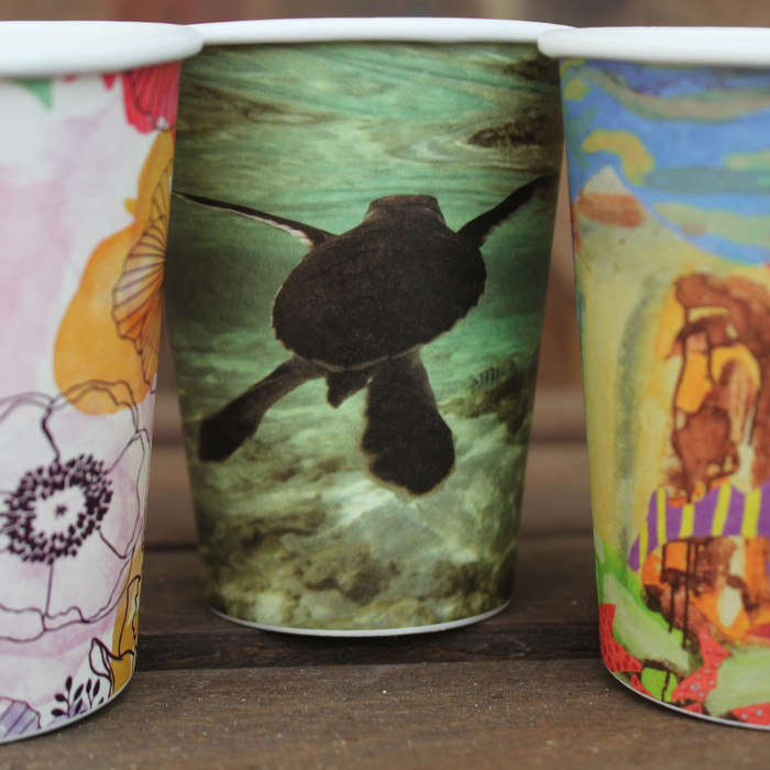 Our art series cups are a stylish and colourful eco way to celebrate at your next party. Comes in packs of 50.