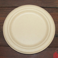 Our 225mm Round Natural Bamboo Pulp Plates (large) are great for standard meals. Unbleached and made from bamboo pulp. They have a beautiful natural colour and texture.