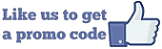 Like us on Facebook to get a promo code