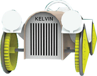 KELVIN® E.P.  Rubber Band Powered Antique Car