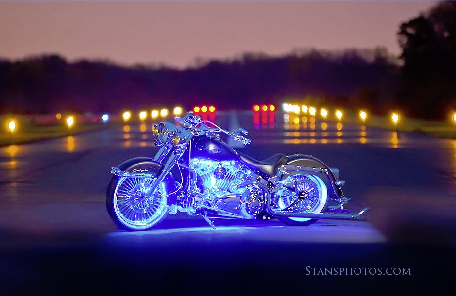 Frank Puccio's Bike with Blue Boogey Lights