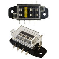 Compact ATO/ATC 4 Way Fuse Block with Cover.