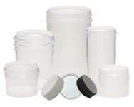 Frosted Plastic Jars with Lids