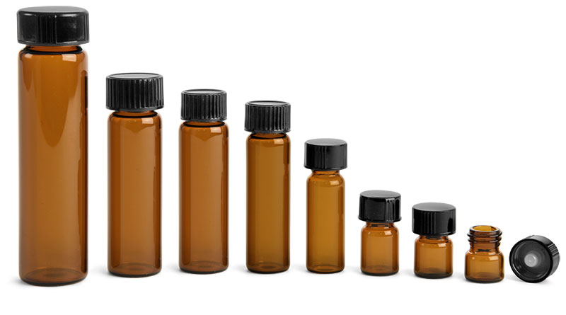Amber Vials with PolySeal or TriFoil Caps