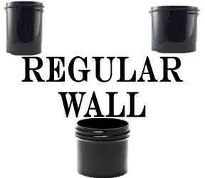 Regular Wall Plastic Jars Black