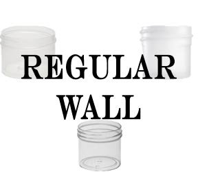 Regular Wall Plastic Jars Clarified Natural