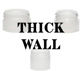 Thick Wall Plastic Jars Clarified Natural