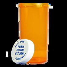 60 Dram Amber Prescription Pill Bottle PCR60NA