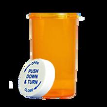 40 Dram Amber Prescription Pill Bottle PCR40NA