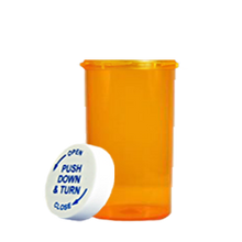 20 Dram Amber Prescription Pill Bottle PCR20NA