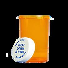 30 Dram Amber Prescription Pill Bottle PCR30NA