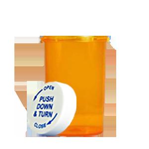 30 Dram Amber Pill Bottle And Pharmacy Vial Pcr30na