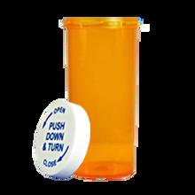 16 Dram Amber Prescription Pill Bottle PCR16NA
