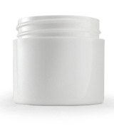 1 oz White Plastic Jar THICK WALL 1-43-TW-WPP