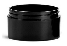6 oz Black Plastic Jar THICK WALL 6-89-TW-BPP
