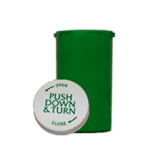 20 Dram Green Prescription Pill Bottle PCR20NG
