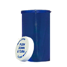 40 Dram Blue Prescription Pill Bottle PCR40NB