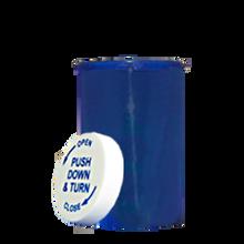 30 Dram Blue Prescription Pill Bottle PCR30NB