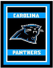 "Carolina Panthers Logo Crochet Graph Afghan Pattern.  All done in single crochet, changing colors as you go along.  Drop one color, pull in the next.  Medium ability.  Size works up to be approx. 50 x 70"".  Graph is 100 stitches wide by 140 stitches high.  Then you crochet 22 rows around the outside edge including a border, if you would like it larger.  Complete instructions are included, a full size graph, and a Helpful Hints page. DOWNLOAD WILL BE SENT TO YOU VIA EMAIL WITHIN 20 MINUTES OF PLACING ORDER.  JUST CLICK ON ""DOWNLOAD FILES"".  ENJOY!"