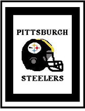 "Pittsburgh Steelers Helmet Crochet Graph Afghan Pattern.  All done in single crochet, changing colors as you go along.  Drop one color, pull in the next.  Medium ability.  Size works up to be approx. 50 x 70"".  Graph is 120 stitches wide by 160 stitches high.  Then you crochet 22 rows around the outside edge including a border, if you would like it larger.  Complete instructions are included, a full size graph, and a Helpful Hints page. DOWNLOADABLE WITH ORDER CONFIRMATION OR EMAIL ME IF YOU'D RATHER HAVE IT MAILED."