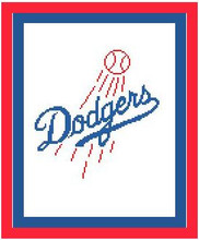 "Los Angeles Dodgers Logo Crochet Graph Afghan Pattern.  All done in single crochet, changing colors as you go along.  Drop one color, pull in the next.  Medium ability.  Size works up to be approx. 50 x 70"".  Graph is 96 stitches wide by 136 stitches high.  Then you crochet 22 rows (or more) around the outside edge including a border, if you would like it larger.  Complete instructions are included, a full size graph, and a Helpful Hints page. DOWNLOADABLE WHEN ORDER IS COMPLETED.  IT COMES IN A SEPARATE EMAIL.  IF YOU'D RATHER HAVE IT MAIL, EMAIL ME."