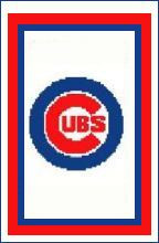 "Chicago Cubs Logo Crochet Graph Afghan Pattern.  All done in single crochet, changing colors as you go along.  Drop one color, pull in the next.  Medium ability.  Size works up to be approx. 50 x 70"".  Graph is 100 stitches wide by 140 stitches high.  Then you crochet 22 rows (or more) around the outside edge including a border, if you would like it larger.  Complete instructions are included, a full size graph, and a Helpful Hints page.  DOWNLOADABLE 20 MINUTES AFTER PAYMENT IS COMPLETED (Just Click on ""Download Files"" under the pattern name in your confirmation) OR EMAIL ME IF YOU WANT IT MAILED."