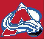 """Avalanche Hockey Team Logo Crochet Graph Afghan Pattern.  All done in single crochet, changing colors as you go along.  Drop one color, pull in the next.  Medium ability.  Size works up to be approx. 50 x 70"""".  Graph is 72 stitches wide by 112 stitches high.  Then you crochet 22 rows around the outside edge including a border, if you would like it larger.  Complete instructions are included, a full size graph, and a Helpful Hints page. DOWNLOADABLE"""