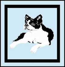"""Boston Terrier Full Size Crochet Afghan Graph Pattern.  All done in single crochet, changing colors as you go along.  Drop one color, pull in the next.  Medium ability.  Size works up to be approx. 50 x 70"""".  Graph is 100 stitches wide by 140 stitches high.  Then you crochet 22 rows (or more) around the outside edge including a border, if you would like it larger.  Complete instructions are included, a full size graph, and a Helpful Hints page.  Download will be sent to you within 20 minutes of completing your order (within the Order Confirmation).  Just click """"download files"""". Enjoy!"""
