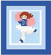 "Cheerleader Crochet Afghan Graph Pattern.  All done in single crochet, changing colors as you go along.  Drop one color, pull in the next.  Medium ability.  Size works up to be approx. 40 x 60"".  Graph is 64 stitches wide by 104 stitches high.  Then you crochet 22 rows (or more) around the outside edge including a border.  Complete instructions are included, a full size graph, and a Helpful Hints page."