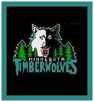 """Timberwolves Crochet Afghan Graph Pattern.  All done in single crochet, changing colors as you go along.  Drop one color, pull in the next.  Medium ability.  Size works up to be approx. 50 x 70"""".  Graph is 120 stitches wide by 160 stitches high.  Then you crochet 22 rows (or more) around the outside edge including a border.  Complete instructions are included, a full size graph, and a Helpful Hints page. DOWNLOADABLE"""
