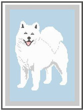 "Samoyed NEW Crochet Afghan Graph Pattern.  All done in single crochet, changing colors as you go along.  Drop one color, pull in the next.  Medium ability.  Size works up to be approx. 50 x 70"".  Graph is 100 stitches wide by 140 stitches high.  Then you crochet 22 rows (or more) around the outside edge including a border.  Complete instructions are included, a fu7l size graph, and a Helpful Hints page. DOWNLOAD WILL BE SENT TO YOU WITH ORDER CONFIRMATION."