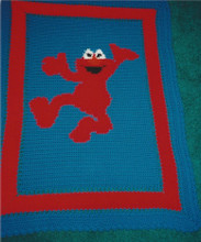 """Elmo Crochet Afghan Graph Pattern.  All done in single crochet, changing colors as you go along.  Drop one color, pull in the next.  Medium ability.  Size works up to be approx. 40 x 60"""".  Graph is 64 stitches wide by 104 stitches high.  Then you crochet 22 rows (or more) around the outside edge including a border.  Complete instructions are included, a full size graph, and a Helpful Hints page. DOWNLOAD WILL BE EMAILED TO YOU WITHIN THE ORDER CONFIRMATION.  Just click on """"Download Files"""".  Enjoy!"""