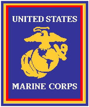 """Marine Corp Logo NEW VERSION in BLUE Crochet Afghan Graph Pattern.  All done in single crochet, changing colors as you go along.  Drop one color, pull in the next.  Medium ability.  Size works up to be approx. 60 x 80"""".  Graph is 140 stitches wide by 180 stitches high.  Then you crochet 22 rows (or more) around the outside edge including a border.  Complete instructions are included, a full size graph, and a Helpful Hints page. DOWNLOAD WILL COME TO YOU IN AN EMAIL, JUST CLICK """"DOWNLOAD FILES"""" AND ENJOY!"""