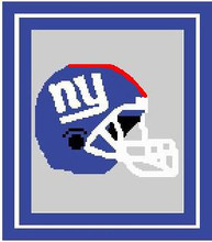"New York Giants Crochet Graph Afghan Pattern.  All done in single crochet, changing colors as you go along.  Drop one color, pull in the next.  Medium ability.  Size works up to be approx. 50 x 70"".  Graph is 100 stitches wide by 140 stitches high.  Then you crochet 22 rows around the outside edge including a border, if you would like it larger.  Complete instructions are included, a full size graph, and a Helpful Hints page. DOWNLOADABLE"