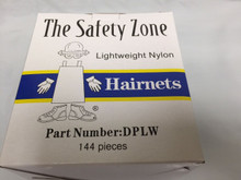 "Safetyzone DPLW 22-BK Black Hairnet 22"" Nylon Lightweight 144/Box"