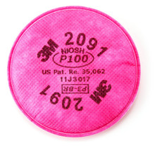 3M 2091 P100 Filter For Respirator 6200 7502 6800 2-Pack