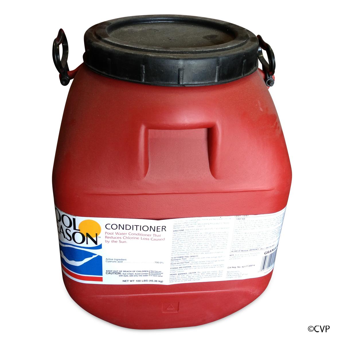 how to add liquid cyanuric acid to pool