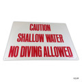 BLUE DEVIL POOL ACCESSORIES | SHALLOW WATER SIGN | POOL SIGN | B8702